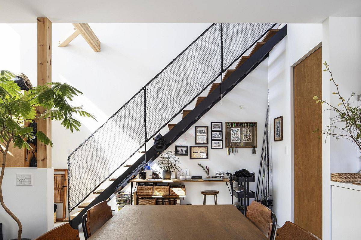 Utilizing the space under the staircase