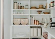 White shelves with random things