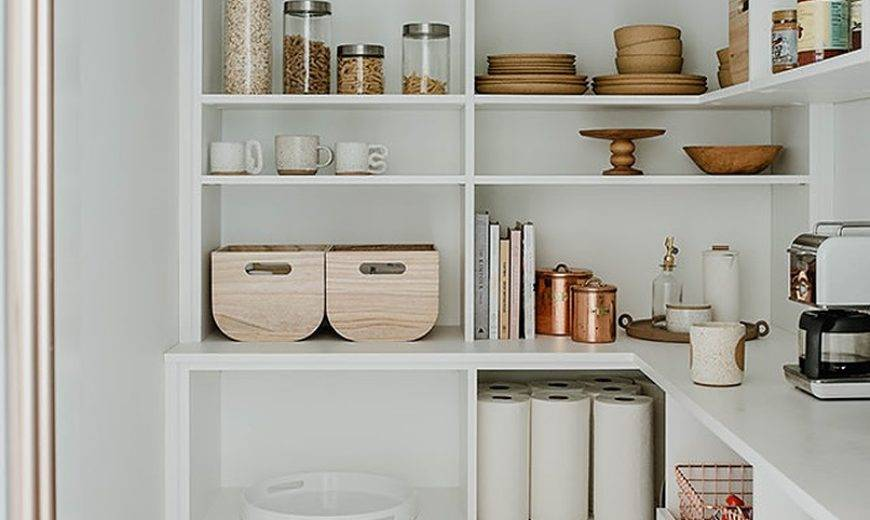 Stylish Pantry Shelving to Keep Things Organized