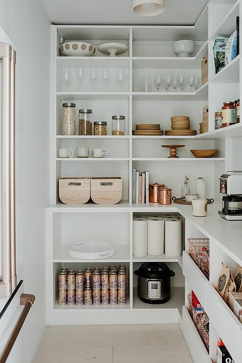 Stylish Pantry Shelving to Keep Things Organized