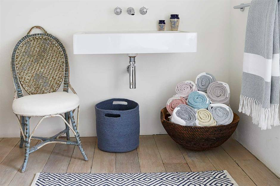 Wicker Basket for Rolled Towels