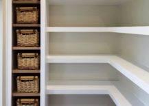 Wicker baskets in the corner