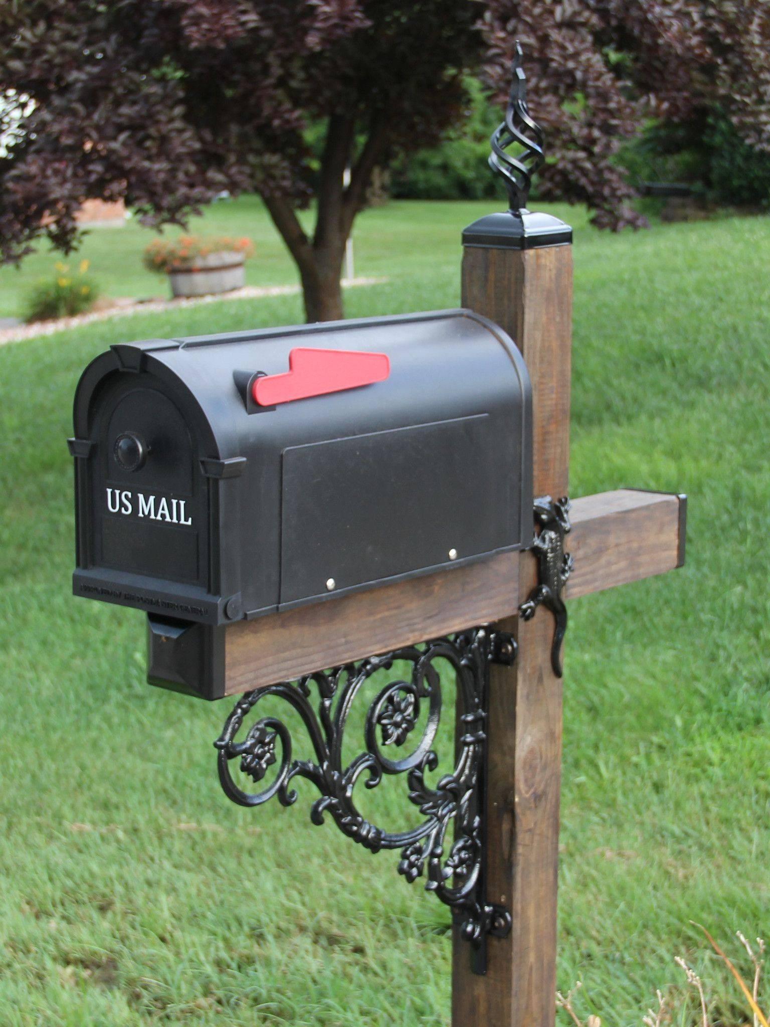 Wood and Iron Mailbox