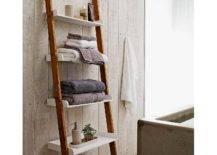 Bathroom Ladder Shelf Whitefurniture white brown wooden leaning ladder shelf for towel in