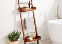 Wooden Ladder Towel Storage