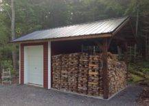 Wooden Storage Shed for Firewood