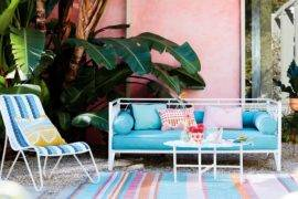 Vibrant Colorful Outdoor Living Areas to Brighten Up Your Summer