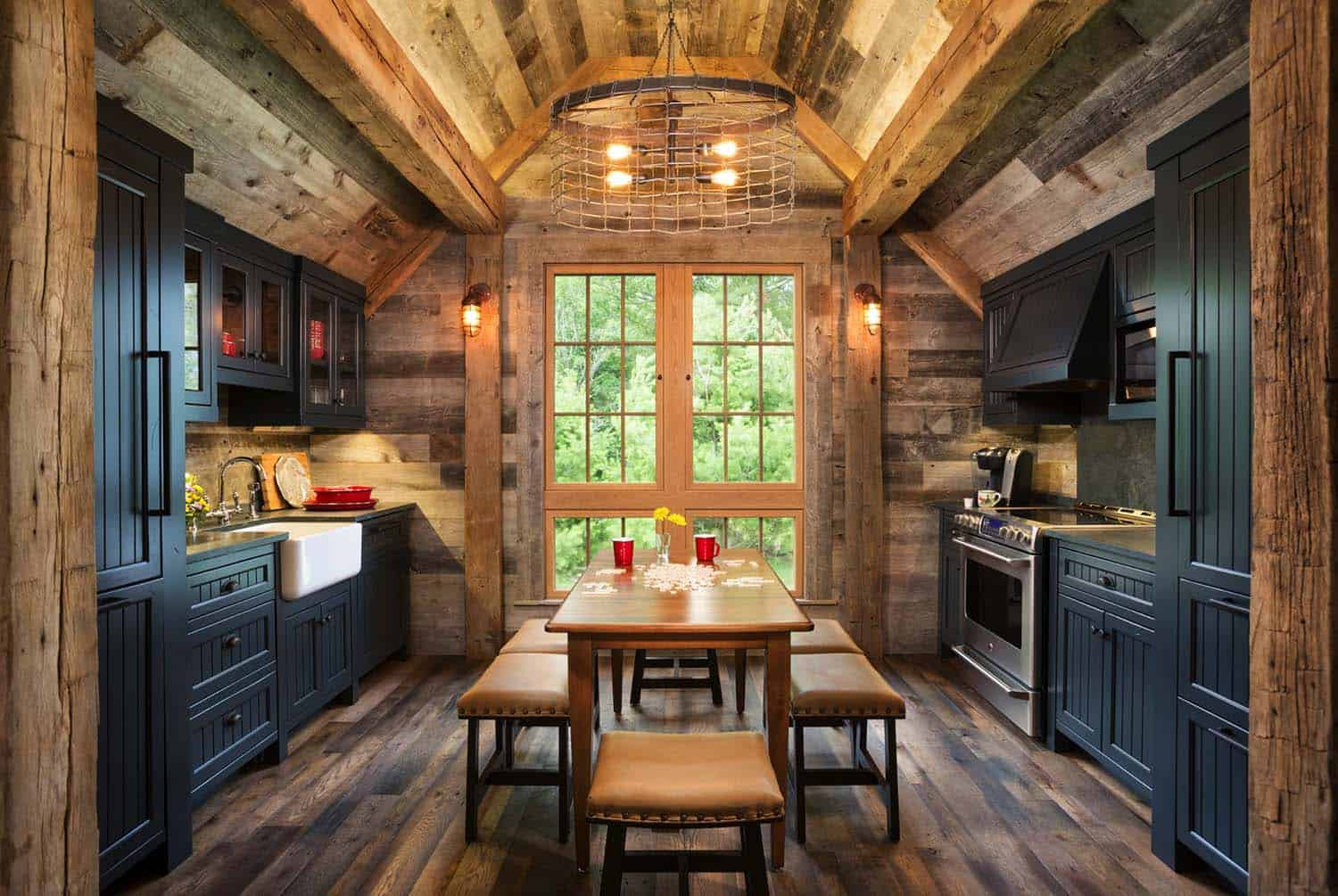 Traditional Rustic Farmhouse Decor Kitchen Natural Wood Country