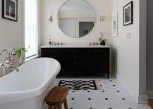 Black-vanity-along-with-cleverly-placed-black-accents-in-the-all-white-bathroom-makes-a-big-impact-80279-217x155