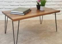 Center table with books and plants