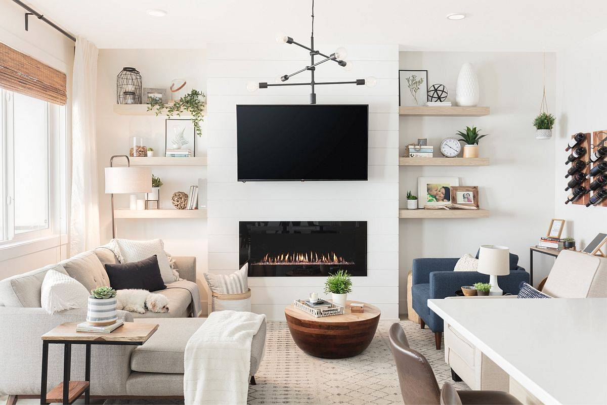 Choosing a plan and style for the living room makes it easier to organize the space