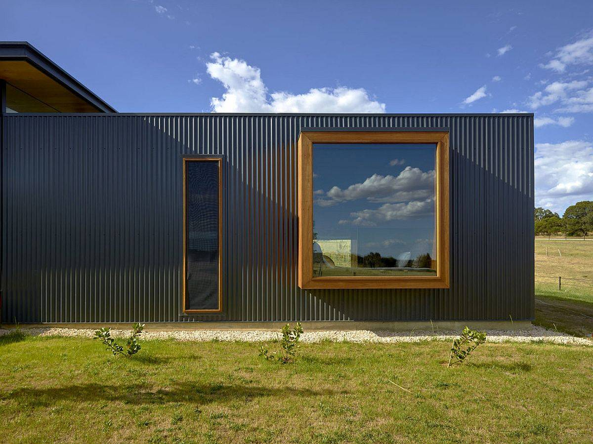 Corrugated steel brings rustic-industrial touch to the exterior of the house