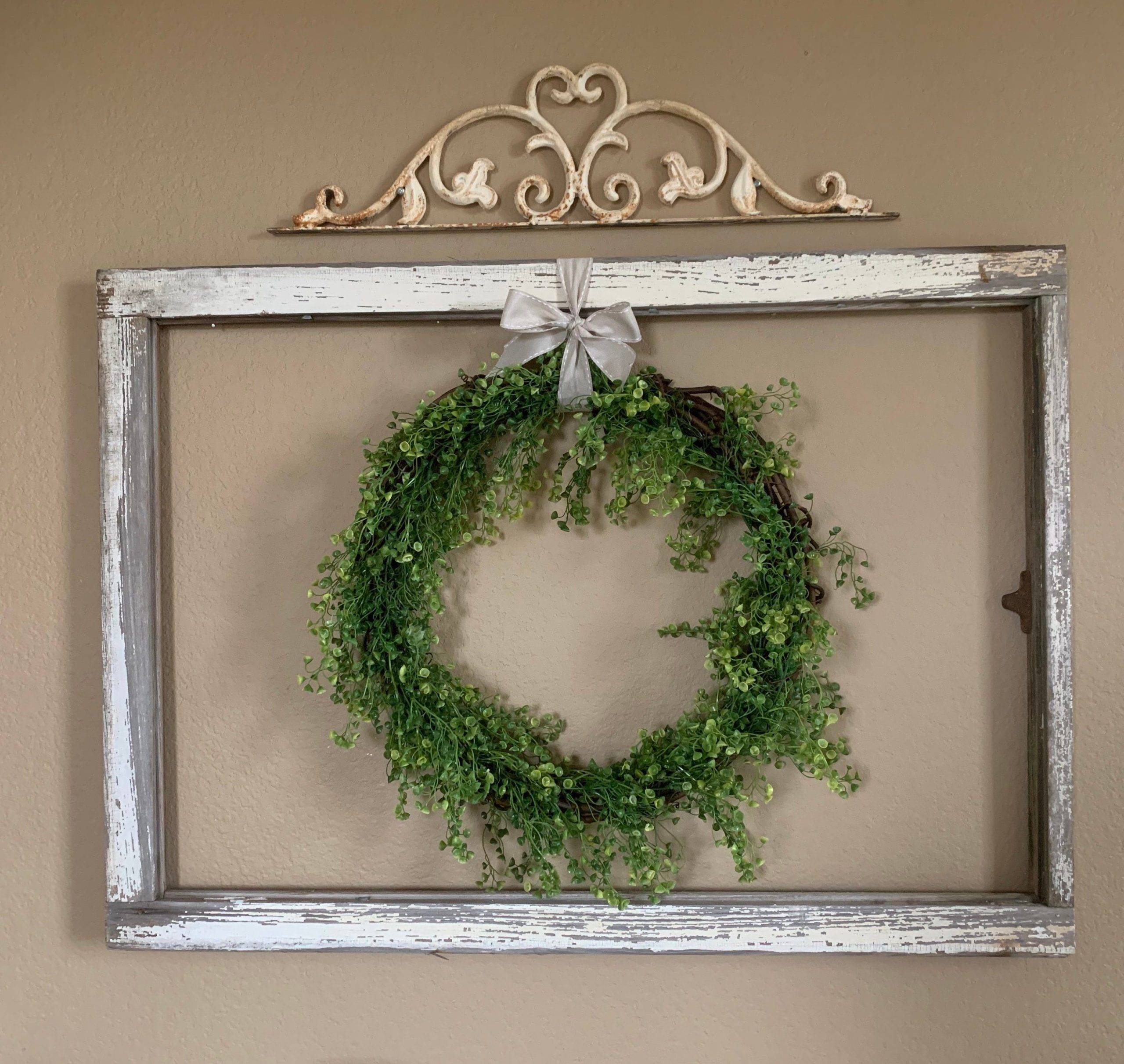 DIY Window Frame and Wreath
