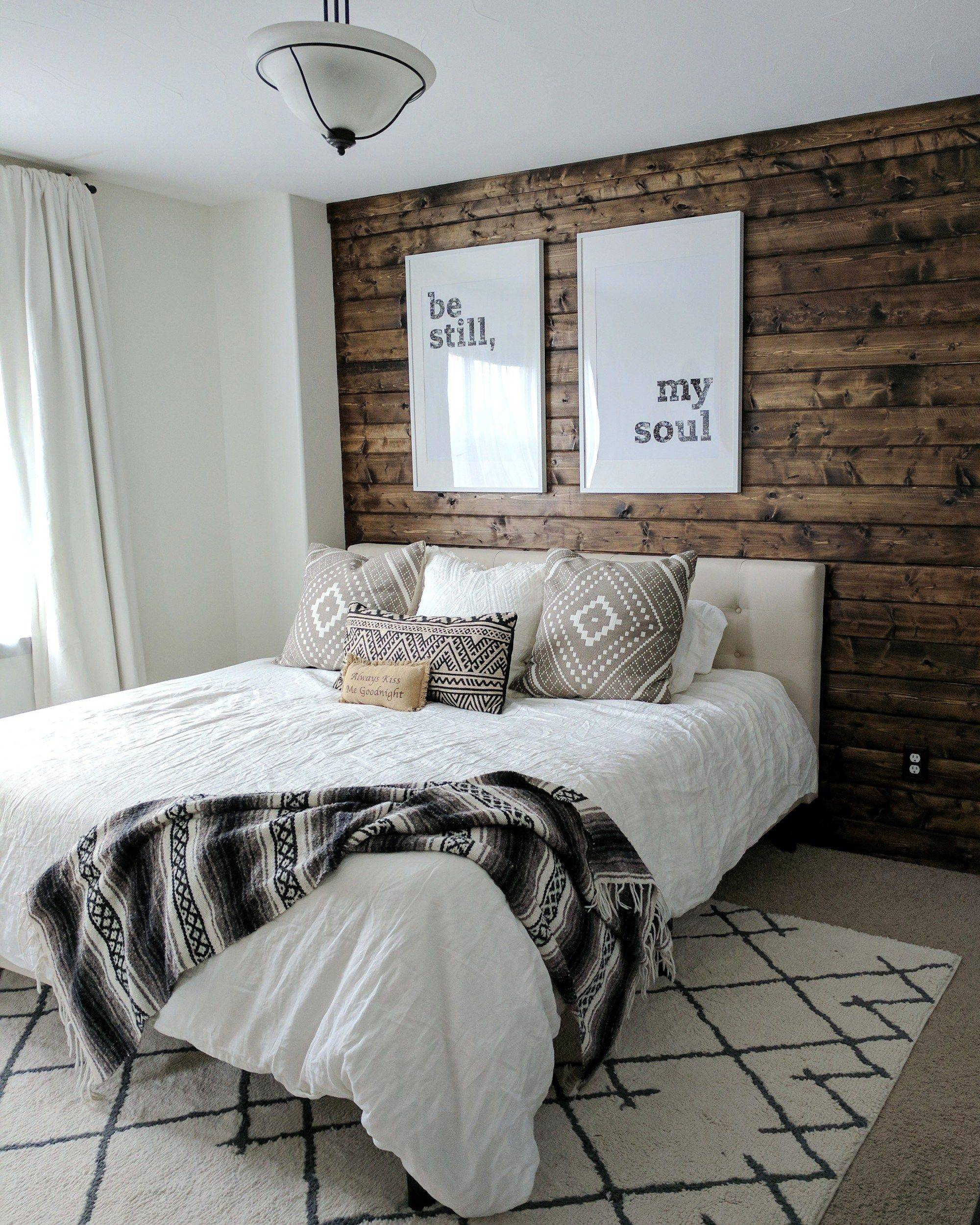 Dark Stained Shiplap Wall