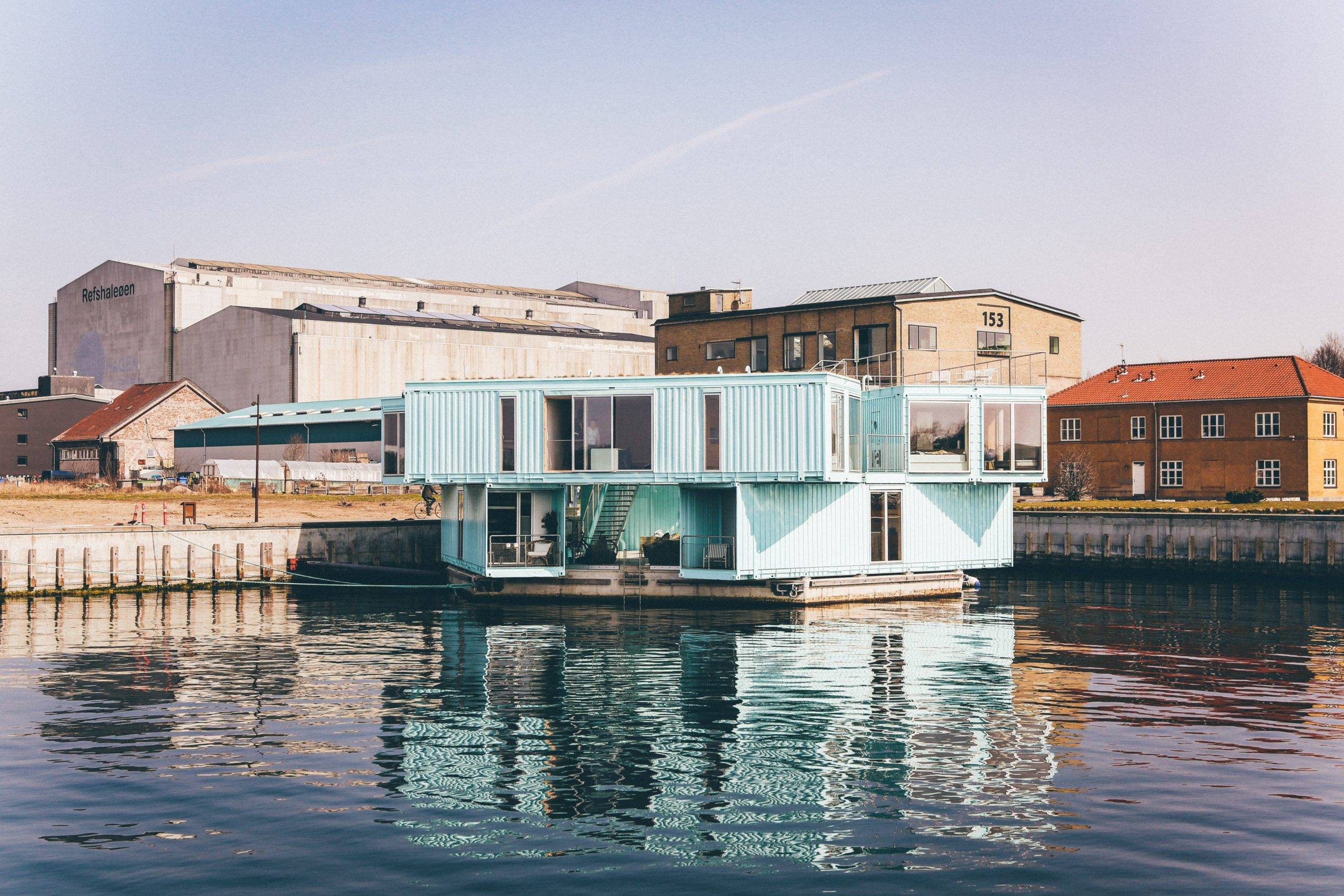 Floating container house