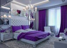 Gray and lavender room