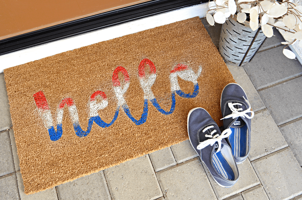 Hand-Painted Doormat