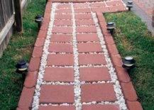 Interlocking Red Bricks as Stepping Stones