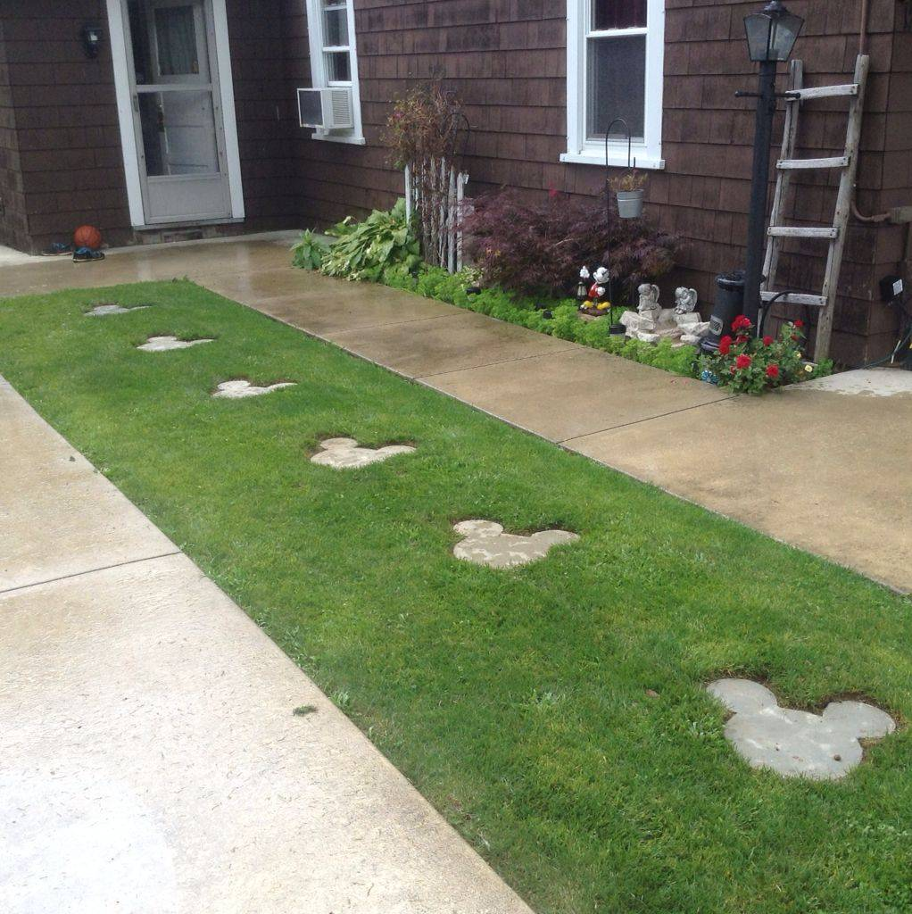 Mickey Mouse Inspired Stepping Stones