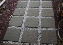 Molded Stepping Stones on Pathway