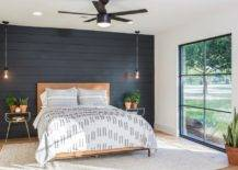 Painted Shiplap Accent Wall