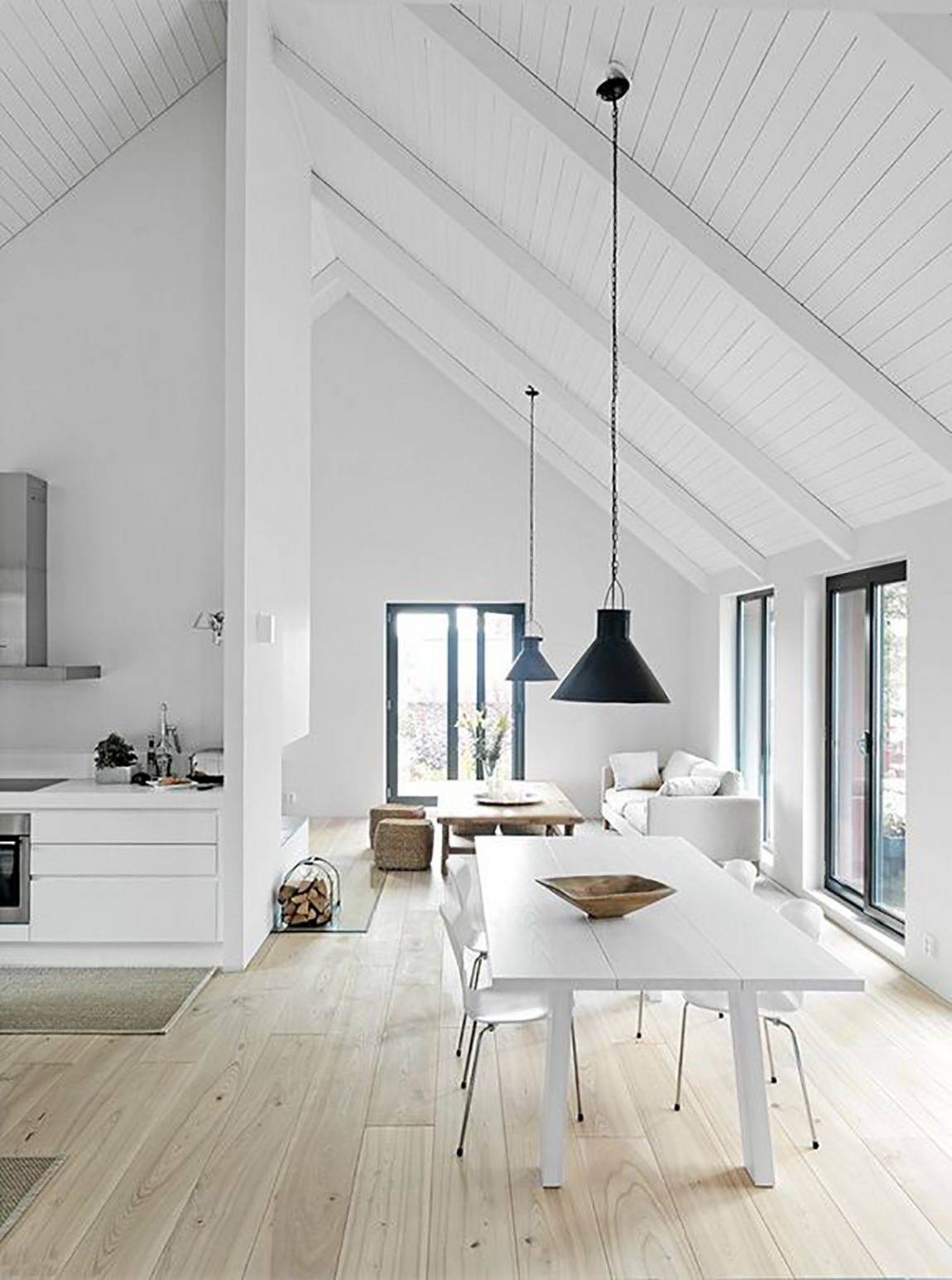 Plain White Vaulted Ceilings,