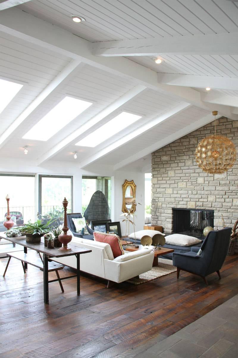Plain White Vaulted Ceilings
