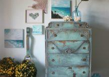Rustic Teal Colored Dresser