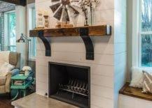 Shiplap Fireplace Surround
