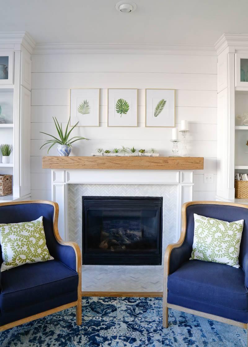 Shiplap Fireplace Surround.