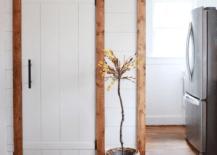 Shiplap Wall to Frame Door