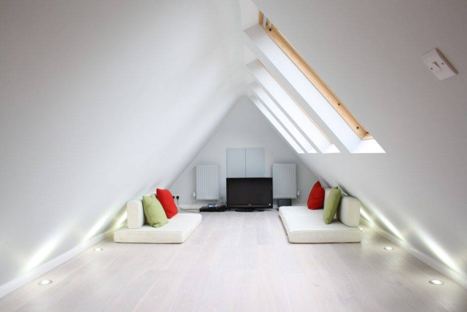 Tall and Pointed Ceilings.