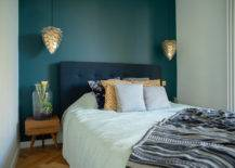 Teal Accent Bedroom Wall