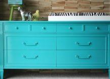 Teal Colored Dresser