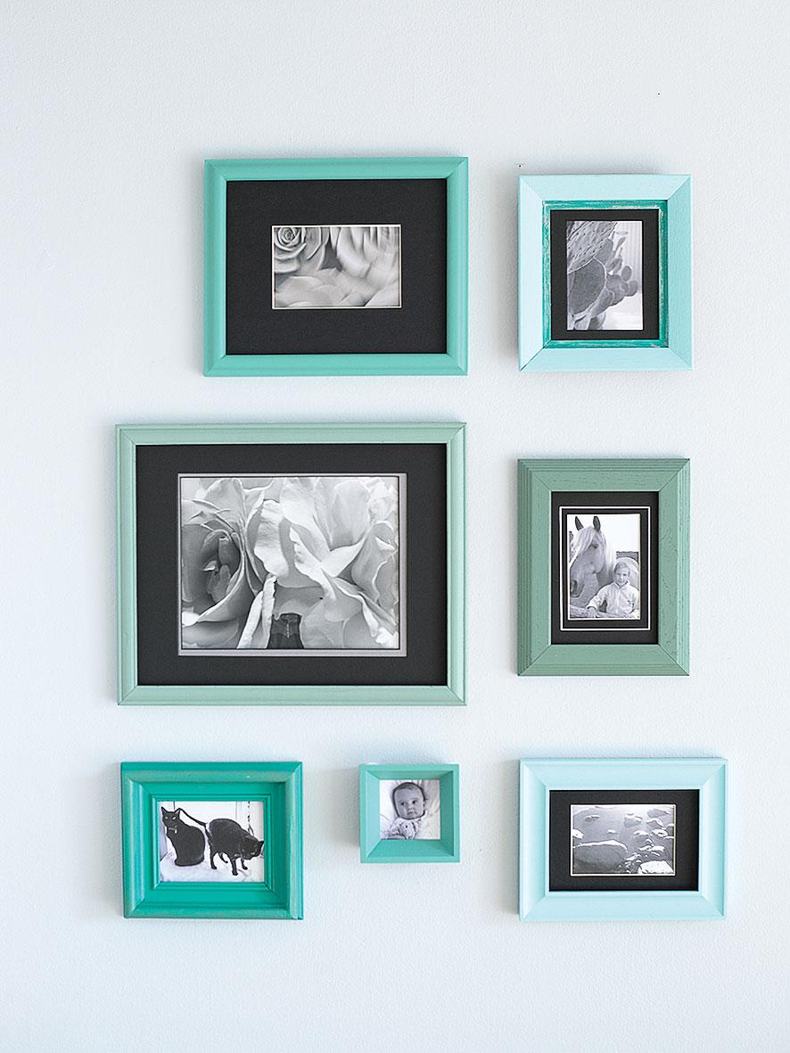 Teal Wall Frames