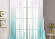 Tie and Dye Teal Curtain