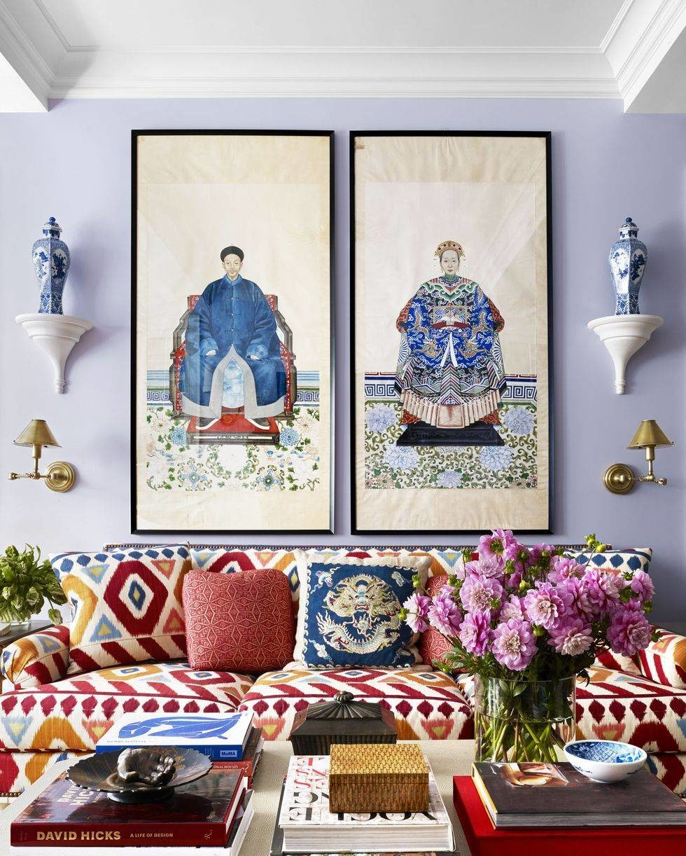 Two huge wall frames of Chinese emperor and empress