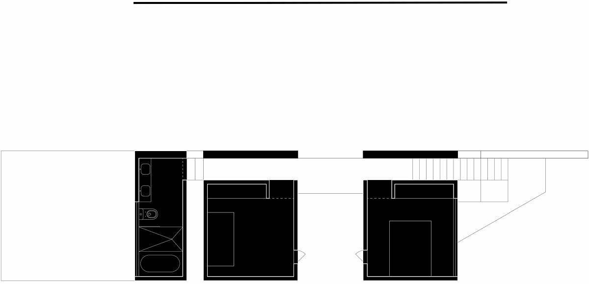 Upper level design plan of the house