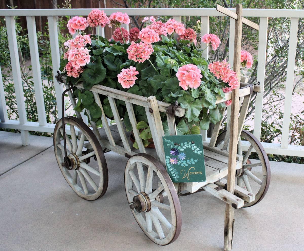 Vintage Cart Gardening Display