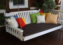 White Painted Porch Swing Bed