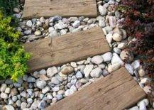 Wood and Stone Pathway