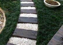 Wood and Stone Pathway.