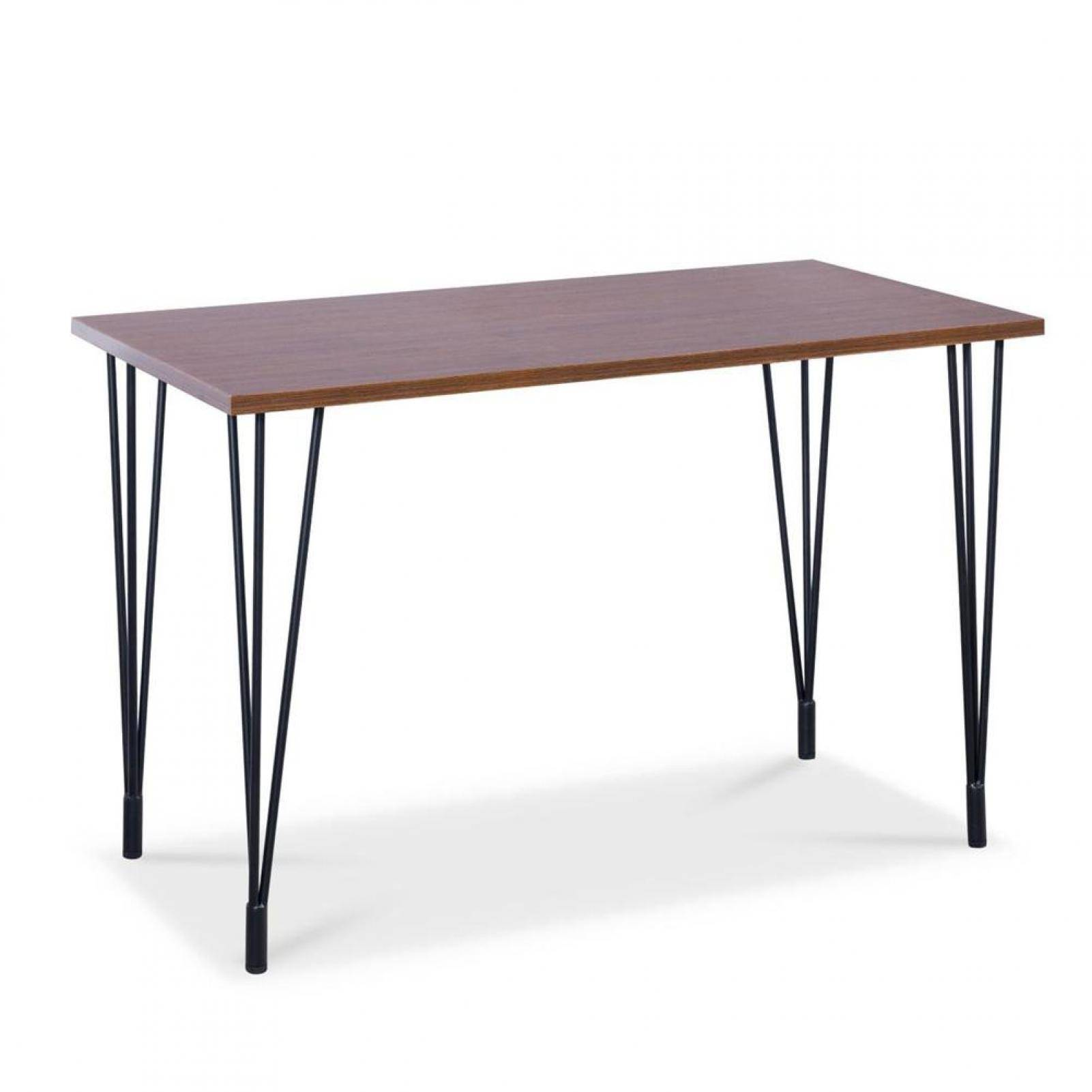 Wood table in white background