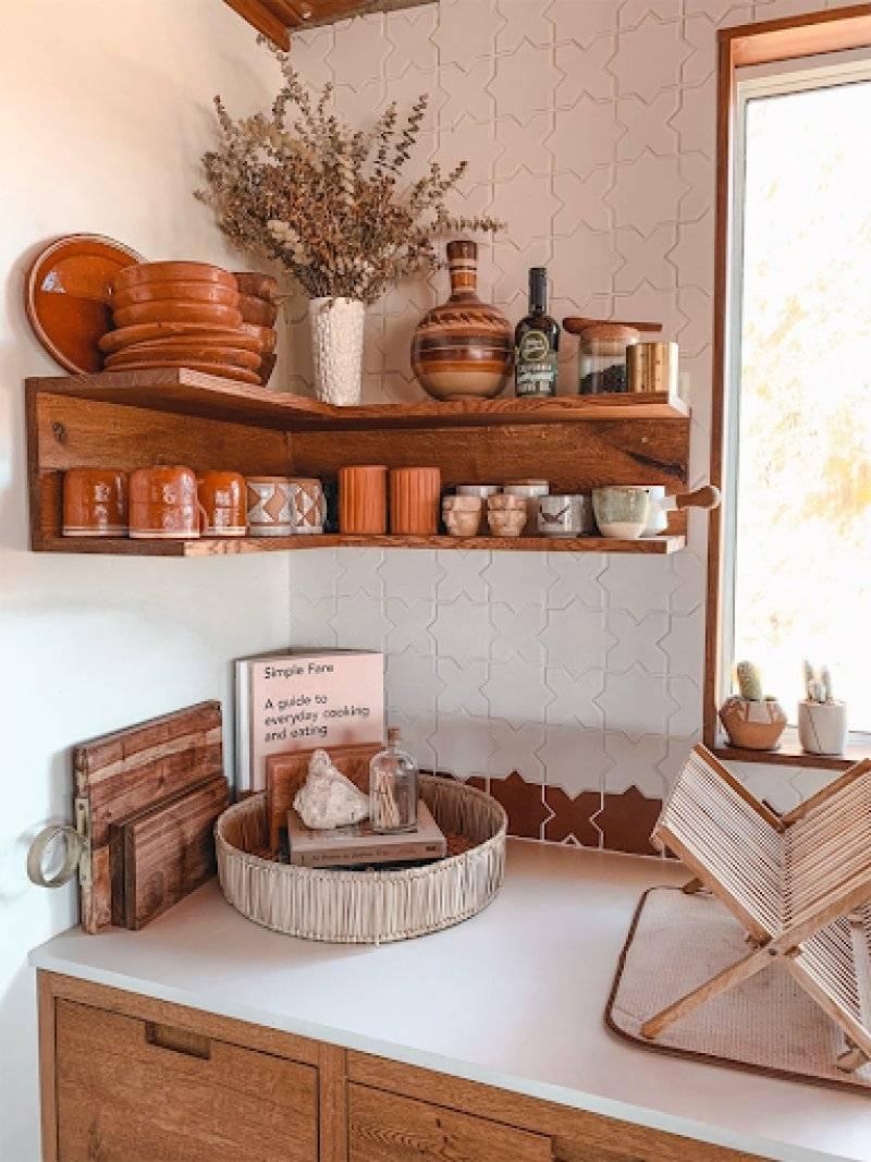 Corner Open Kitchen Shelf