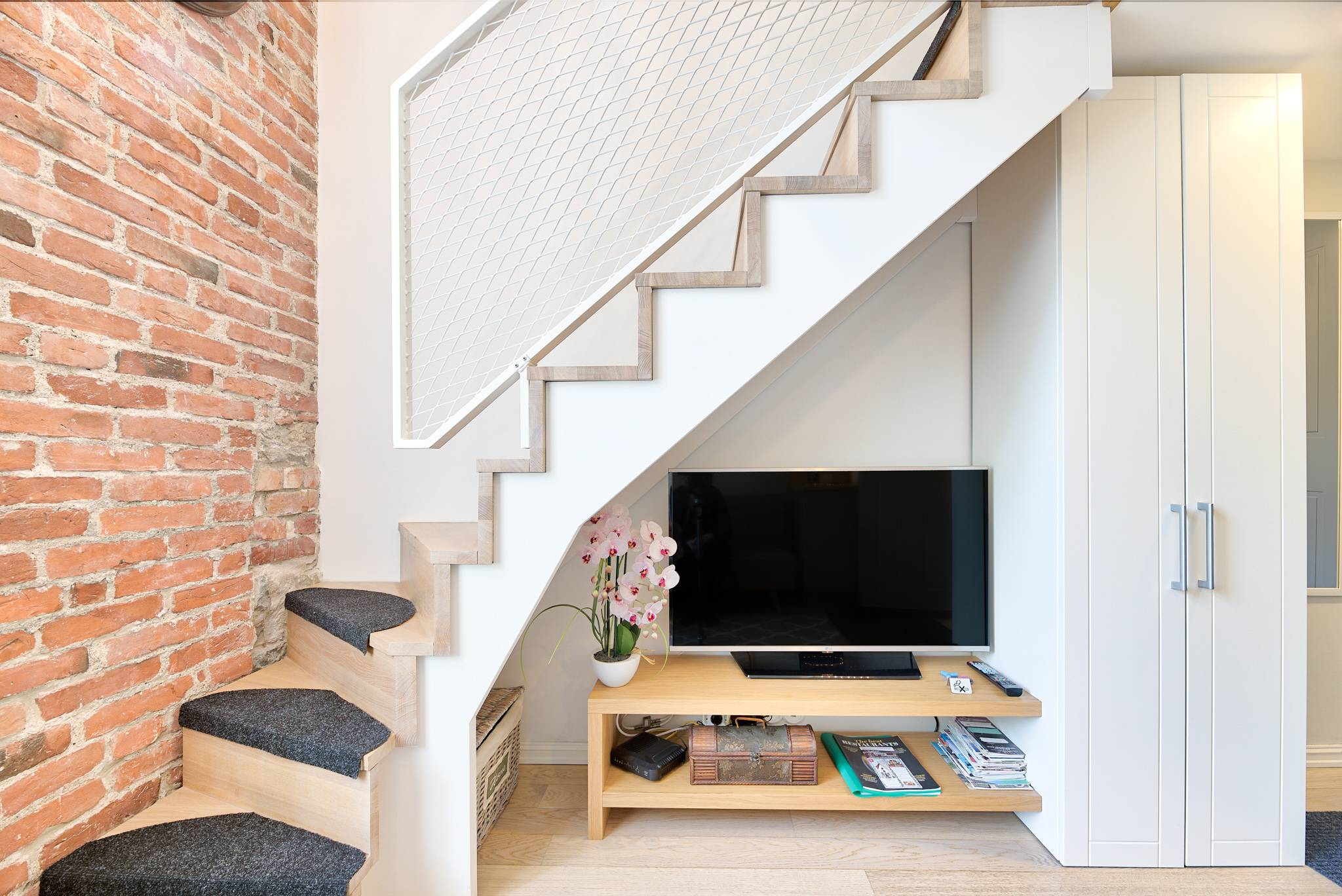 Modern White Loft Staircase