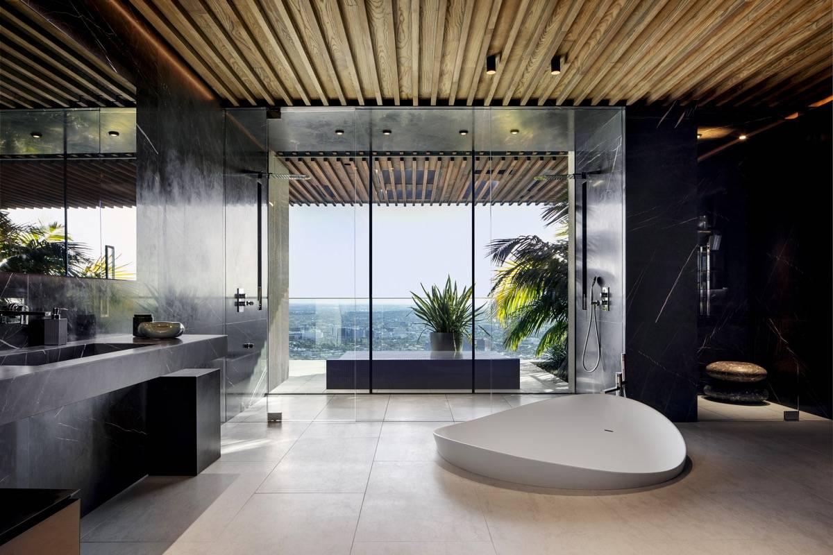 Asymmetrical Sunken Bathtub