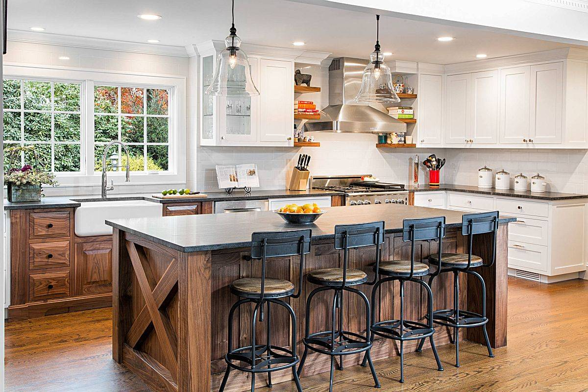 Bar-stools-bring-an-edgy-industrial-vibe-to-this-modern-kitchen-in-white-and-wood-12313