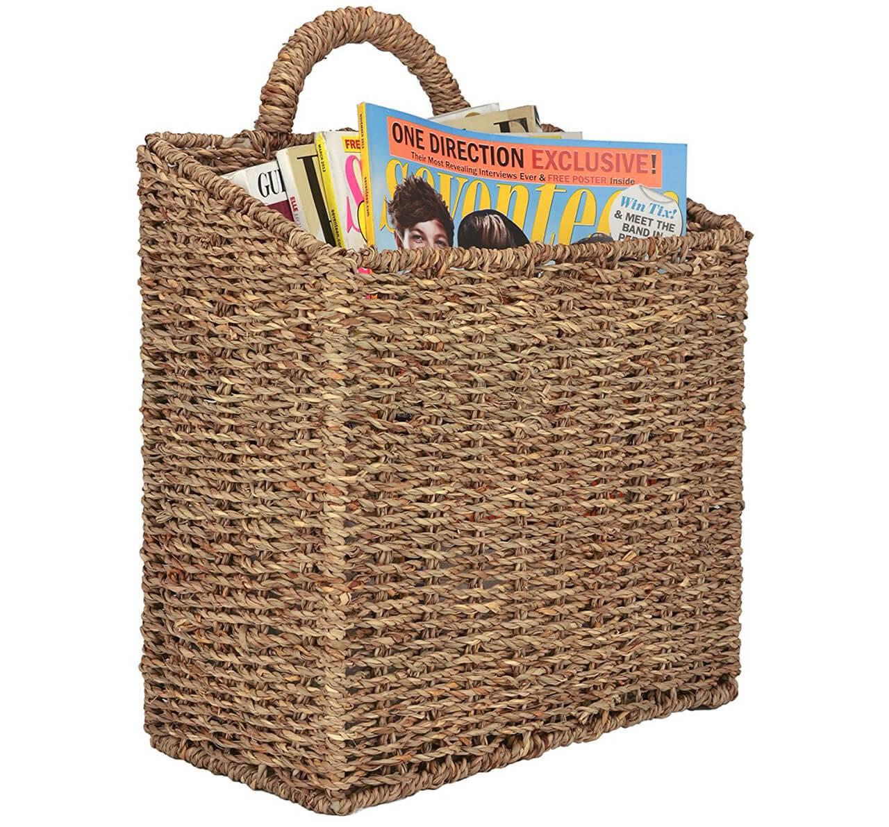 Basket Magazine Holders
