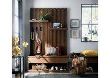 Batten storage set with hooks and shelves