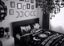 Black and White Gothic Bedroom.